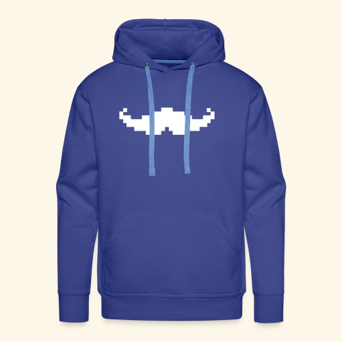 Moustache pixel - Sweat-shirt à capuche Premium pour hommes