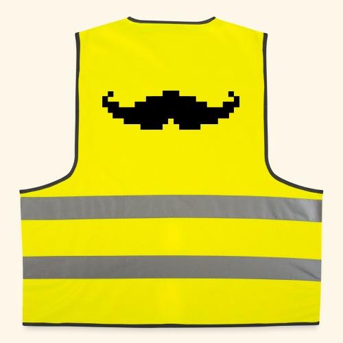 Moustache pixel - Gilet de sécurité