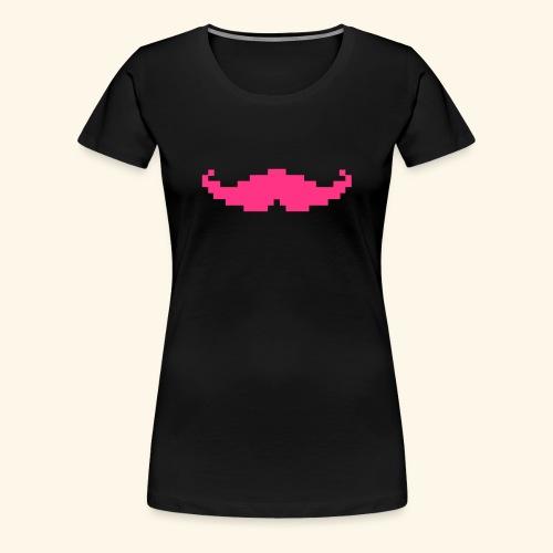 Moustache pixel - T-shirt Premium Femme