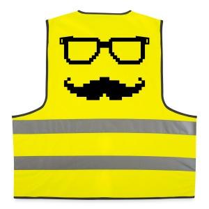Moustache et lunettes pixel geek - Gilet de sécurité