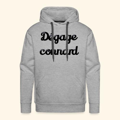 dégage connard - Sweat-shirt à capuche Premium pour hommes