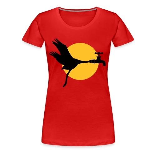Kraanvogel - Vrouwen Premium T-shirt