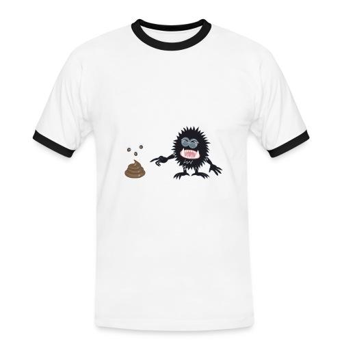 Blorpen-tröja Hundbajs - Kontrast-T-shirt herr
