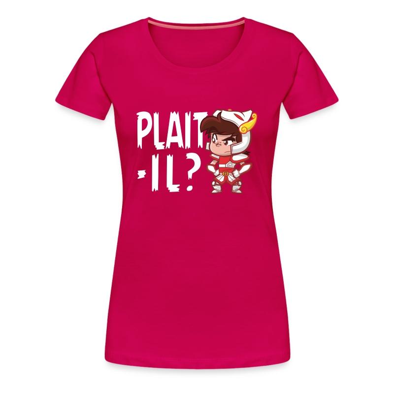 Plaît-il blanc (premium) - T-shirt Premium Femme