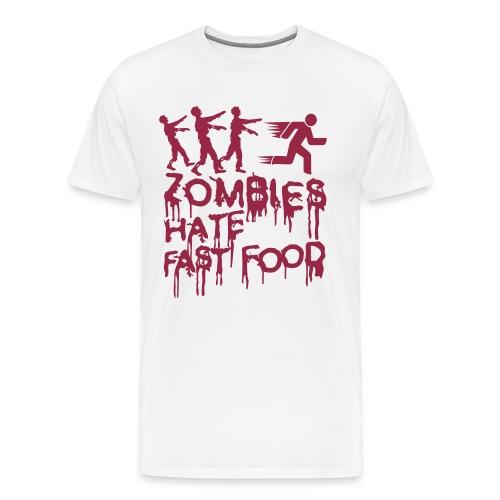 Zombies hate fast food  T-Shirt - Men's Premium T-Shirt