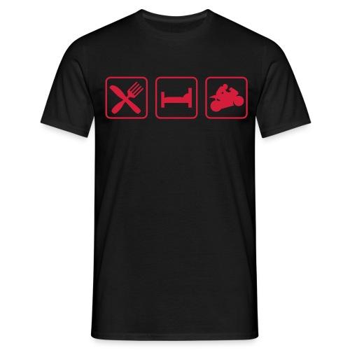 Red Biker ride - T-shirt Homme
