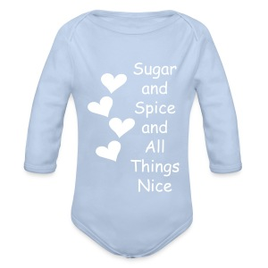 What are Little Girls Made Of? - Organic Longsleeve Baby Bodysuit