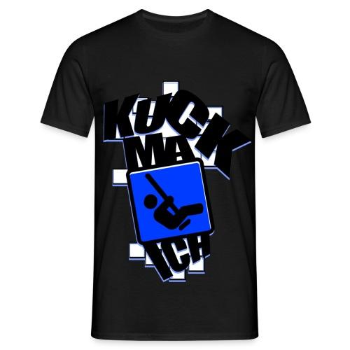 KuckMaIch MEN T-Shirt White-Blue - Männer T-Shirt