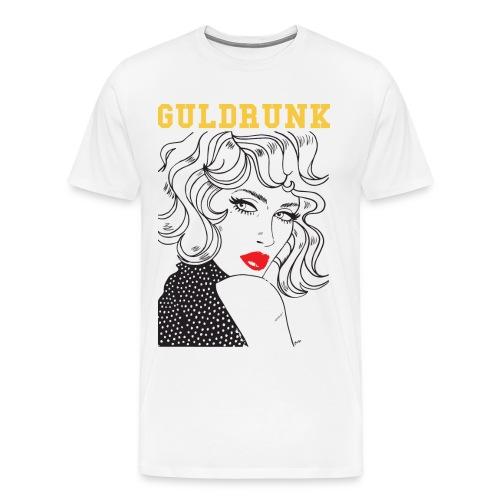 Official Guldrunk - Premium-T-shirt herr