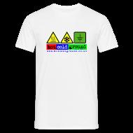 T-Shirts ~ Men's T-Shirt ~ Hot Cold Ground Blues Band plain tshirt, white