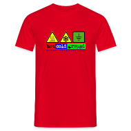 T-Shirts ~ Men's T-Shirt ~ Hot Cold Ground Blues Band Plain t shirt, various colours