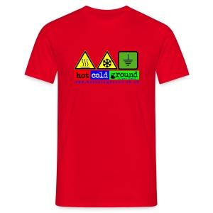 Hot Cold Ground Blues Band Plain t shirt, various colours - Men's T-Shirt
