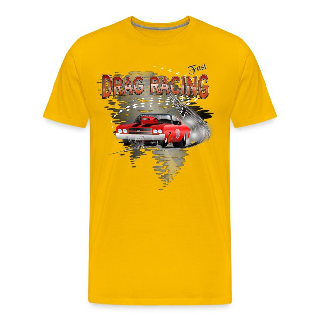 Dragster T-shirt mit Chevy Chevelle
