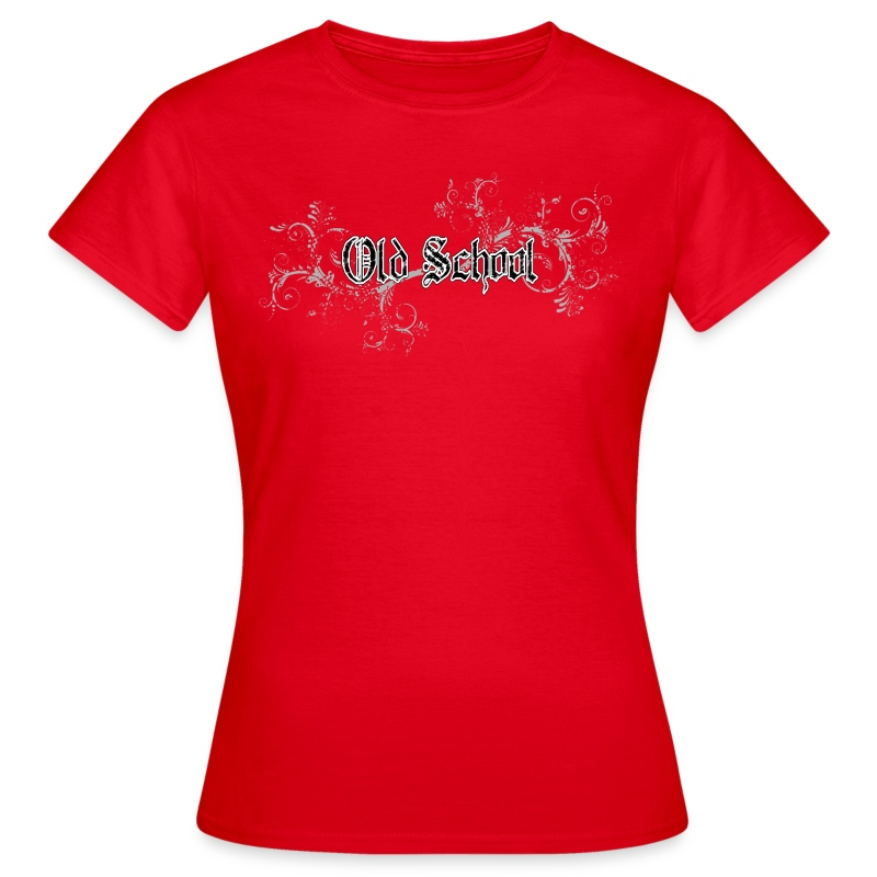 T-shirt Old School in Vintage Style - Frauen T-Shirt