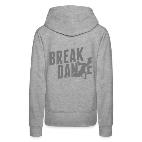 Bluza damska Premium z kapturem - Bluza,breakdance,damska,kobieta,moda,muzyka,nadruk,sport,taniec