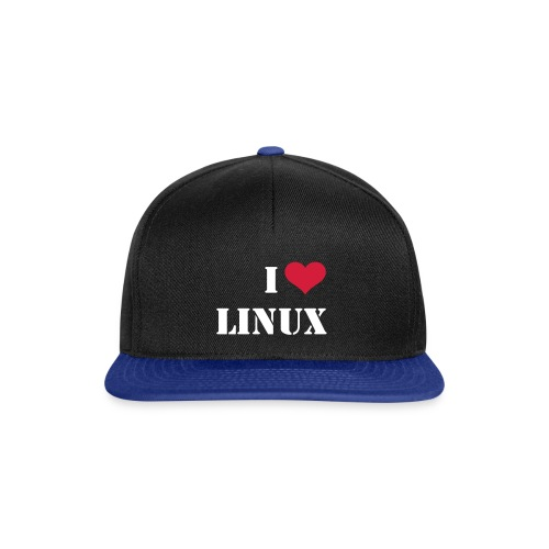 Capello I love Linux - Snapback Cap