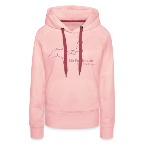 MPS Reiter Pink Glitter Women´s Hoody - Frauen Premium Hoodie