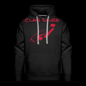 Hoodie Classic - schwarz mit Druck rot - Männer Premium Hoodie