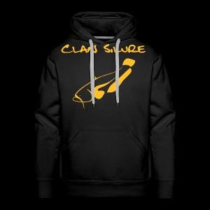 Hoodie Classic - schwarz mit Druck orange - Männer Premium Hoodie