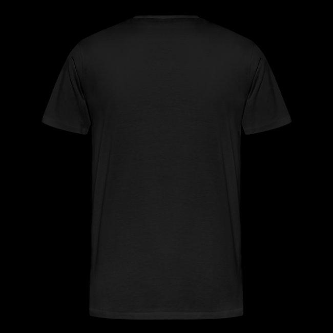 """T-Shirt """"Classic"""" - schwarz mit Druck orange"""