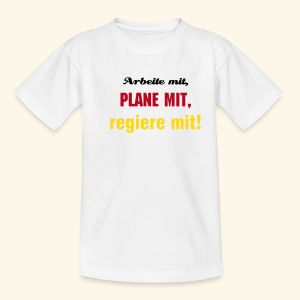 Arbeite mit... - Teenager T-Shirt