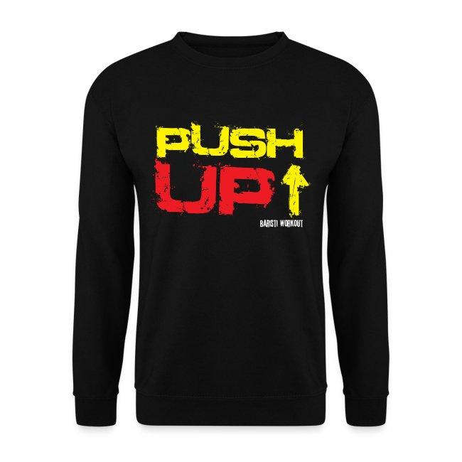 Push-Up Sweatshirt schwarz Männer
