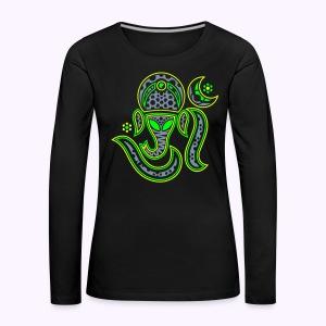 Ganesha-Aum 3-Color Print Women's Longsleeve Shirt - Women's Premium Longsleeve Shirt
