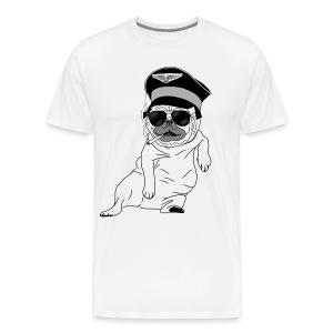 Pug Pilot - Men's Premium T-Shirt