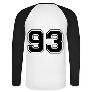 Baseballshirt '93' - Mannen baseballshirt lange mouw
