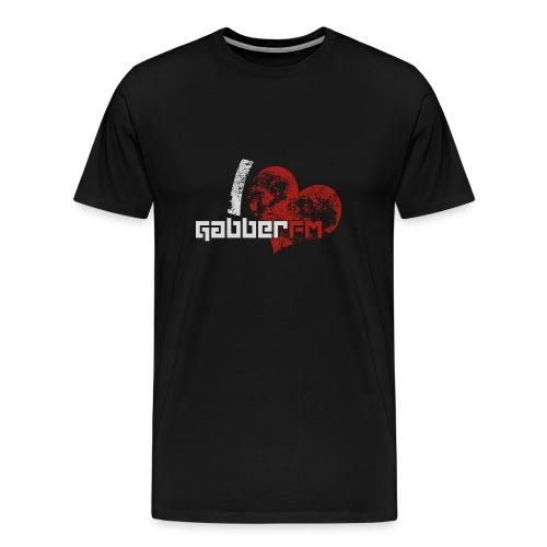 I ♥ Gabber.FM T-Shirt Male - Men's Premium T-Shirt