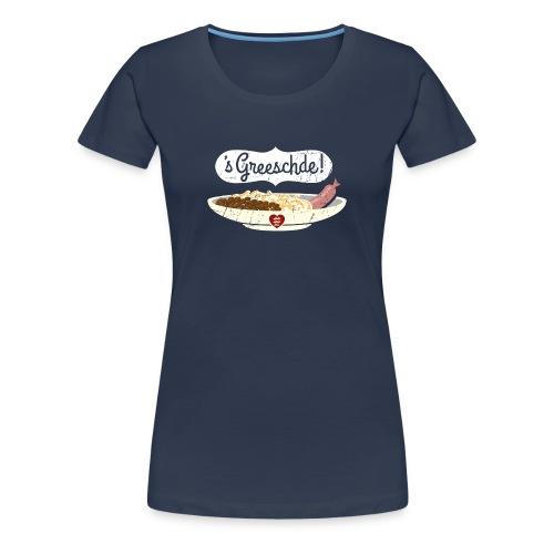 Linsen - Spätzle - Saiten - Mädle - Frauen Premium T-Shirt