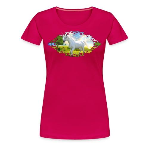 Unicorn Landscape rose - Vrouwen Premium T-shirt
