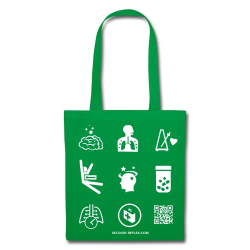 Sac tissu vert picto - Tote Bag