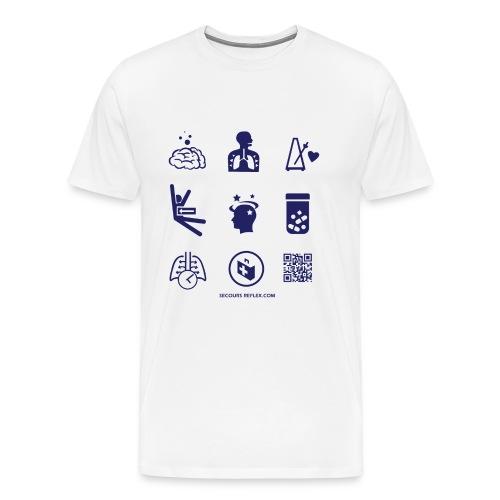 Tee shirt homme blanc picto - T-shirt Premium Homme