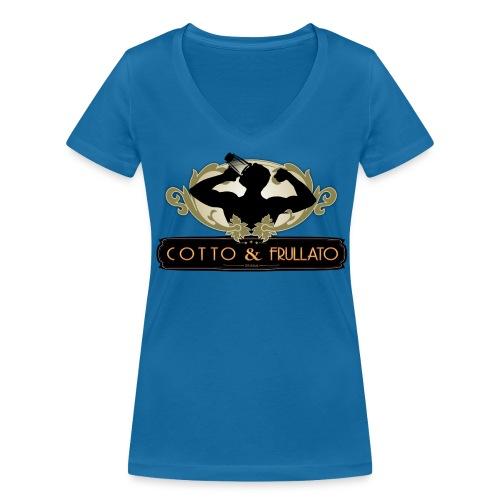 T-Shirt donna Cotto & Frullato - T-shirt ecologica da donna con scollo a V di Stanley & Stella