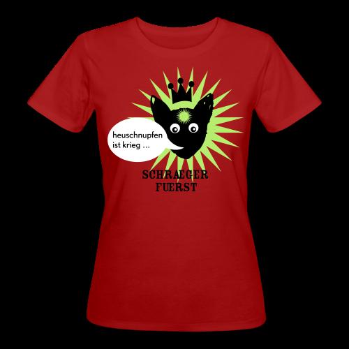 frauen, bio-t-shirt, heuschnupfen ist krieg, grün - Frauen Bio-T-Shirt