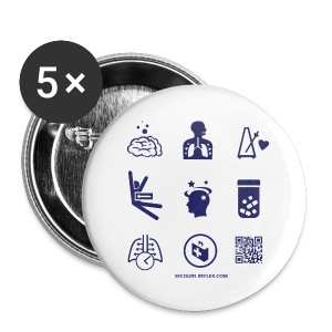 Badge 56mm picto - Badge grand 56 mm