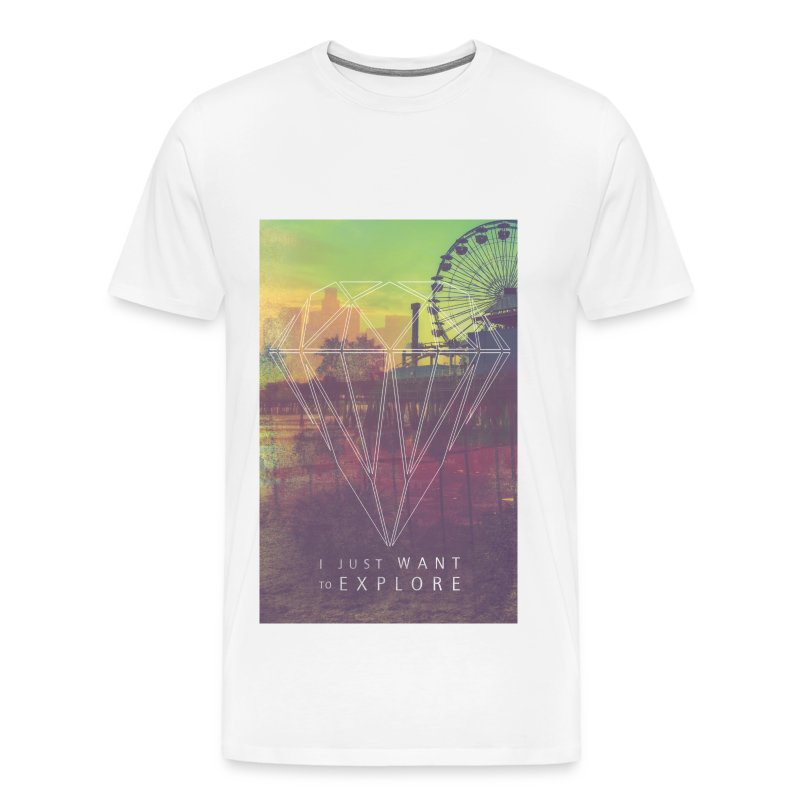 Explore,Hipster T-Shirts,Moustache,Triangle,Hipsta - Männer Premium T-Shirt