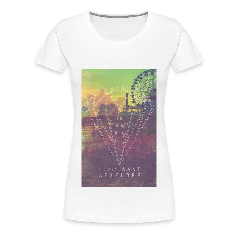 Explore,Hipster T-Shirts,Moustache,Triangle,Hipsta - Frauen Premium T-Shirt