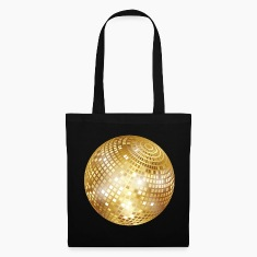 Disco Ball / Mirror Glitter (Gold, PNG) Tote Bag