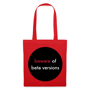 stofftasche, beware of beta versions, rot - Stoffbeutel