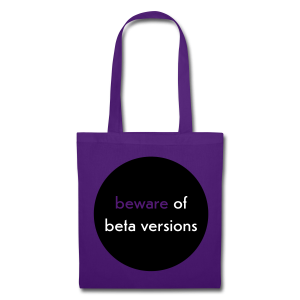 stofftasche, beware of beta versions, lila - Stoffbeutel