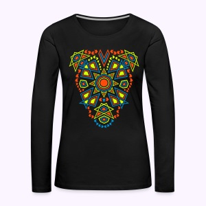 Tribal Sun Neon 2-Side Print - Longsleeve - Women's Premium Longsleeve Shirt