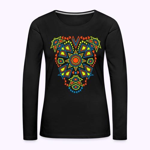 Tribal Sun Neon 2-Side Print - Longsleeve - Dame premium T-shirt med lange ærmer