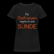 T-Shirts ~ Frauen T-Shirt mit V-Ausschnitt ~ Ostfriesensünde-Shirt (Damen)