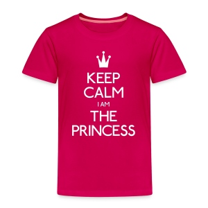 keep calm princess holde ro prinsesse Skjorter - Premium T-skjorte for barn