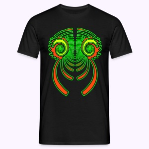 Fractal Dragon 3 Color: Men Classic Shirt - Mannen T-shirt