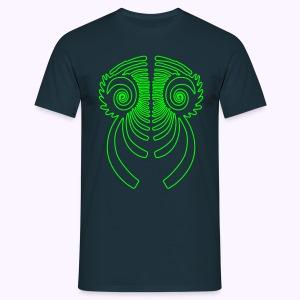 Fractal Dragon 1 Color: Men Classic Shirt - Mannen T-shirt