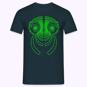 Fractal Dragon 1 Color: Men Classic Shirt - Mannen T-shirt