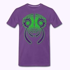 Fractal Dragon 2 color Men's S to 5XL Shirt - Mannen Premium T-shirt